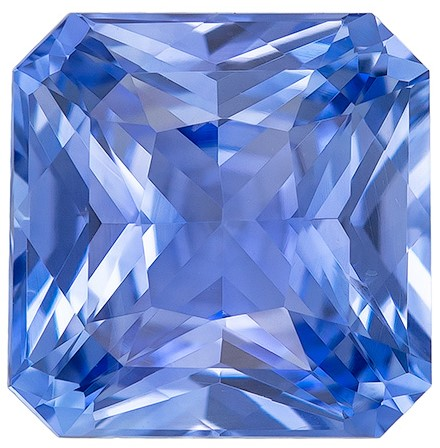 Great Colored Gem  Radiant Cut Beautiful Blue Sapphire Loose Gemstone, 2.15 carats, 7.2 x 7.2 mm , Top Gem Material