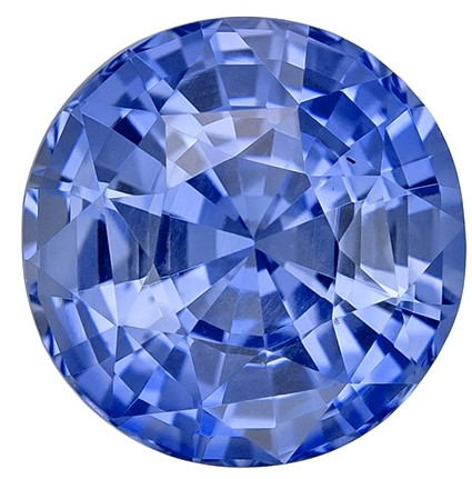 Great Colored Gem  Round Cut Faceted Blue Sapphire Gemstone, 1.97 carats, 7.3 mm , Super Lovely Gem