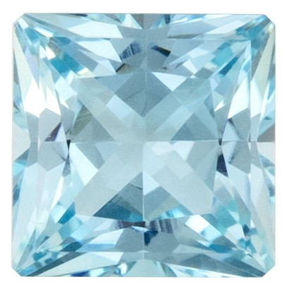 Super Fine Gem, Great Deal  Blue Aqua Genuine Gemstone, 0.91 carats, Princess Shape, 5.7 mm