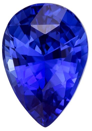 Great Deal on Blue Sapphire Gemstone, 2.06 carats, Pear Shape, 9.08 x 6.29 x 4.82 mm, Low Price with GIA No Heat