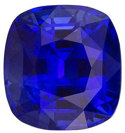 Great Deal on Blue Sapphire Gemstone, 4.02 carats, Cushion Shape, 8.9 x 8.41 x 6.11 mm, GIA Certificate