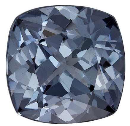 Great Deal on  Gray Spinel Gemstone, 1.46 carats, Cushion Shape, 6.9 mm, A Beauty of A Gem