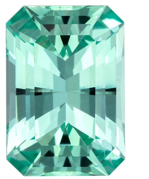 Great Deal on Green Beryl Gemstone, 1.09 carats, Radiant Shape, 7.6 x 5.3 mm, Impressive Gem