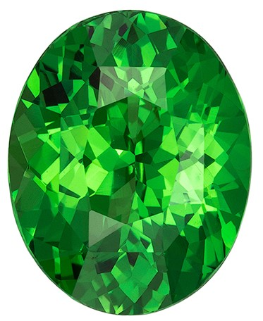 Great Deal on  Green Tsavorite Gemstone, 3.12 carats, Oval Shape, 10 x 7.9 mm, Great Buy on This Stone