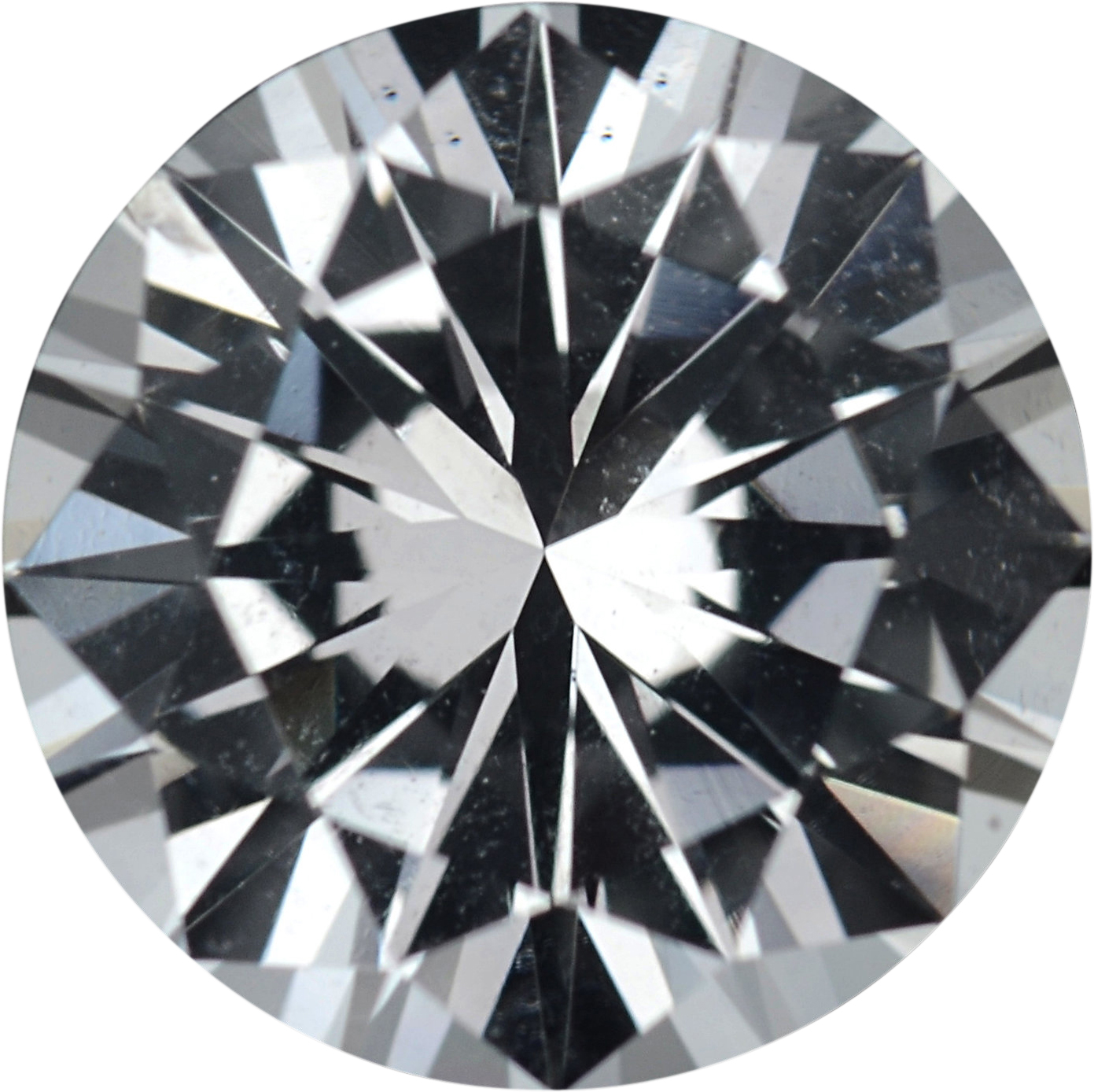 Great Deal on Loose White Sapphire Gem in Round Cut, Near Colorless, 7.03 mm, 1.47 carats