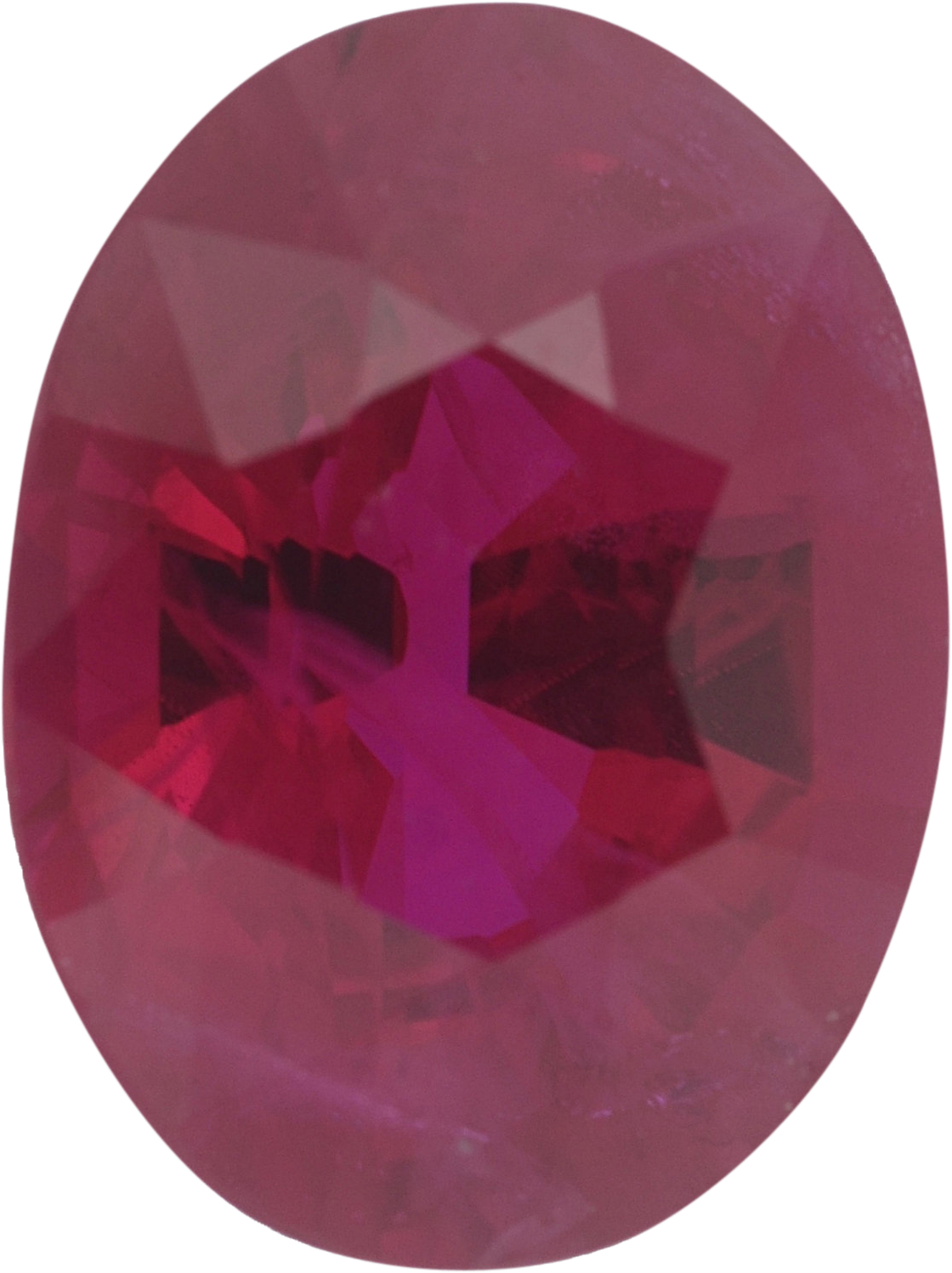 Great Deal on Oval Cut Loose Ruby Gem,  Red Color, 7.45 x 5.62 mm, 1.28 carats