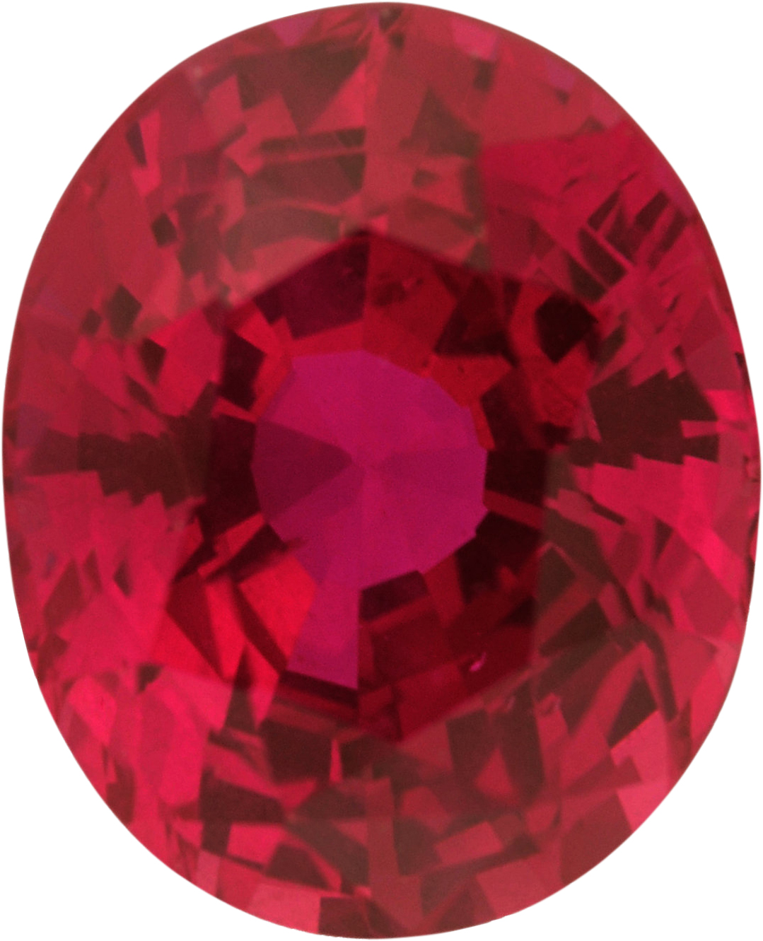 Great Deal on Oval Cut Loose Ruby Gem, Red Color, 8.04 x 6.51 mm, 2 carats