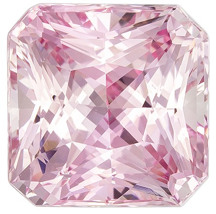 Top Gem in Baby Pink Sapphire No Heat GIA Certified Gemstone, 5.17 carats, Radiant Shape, 9.13 x 9.08 x 6.52 mm, Unusually Fine Gem