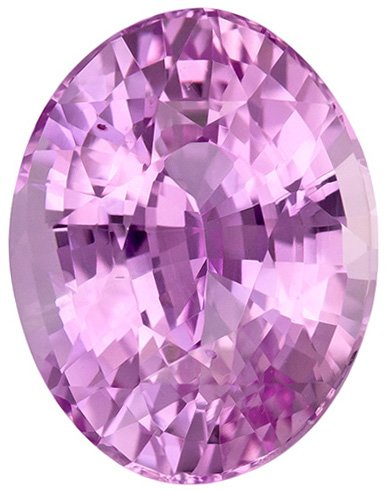 Great Deal on Pink Sapphire Loose Gem in Oval Cut, Light Soft Violet Pink, 9.2 x 7.2 mm, 2.9 carats
