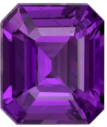 Great Deal on Purple Sapphire Gemstone, No Heat GIA Cert, 1.08 carats, Emerald Shape, 6.08 x 5.24 x 3.45 mm, Hard to Find Gem