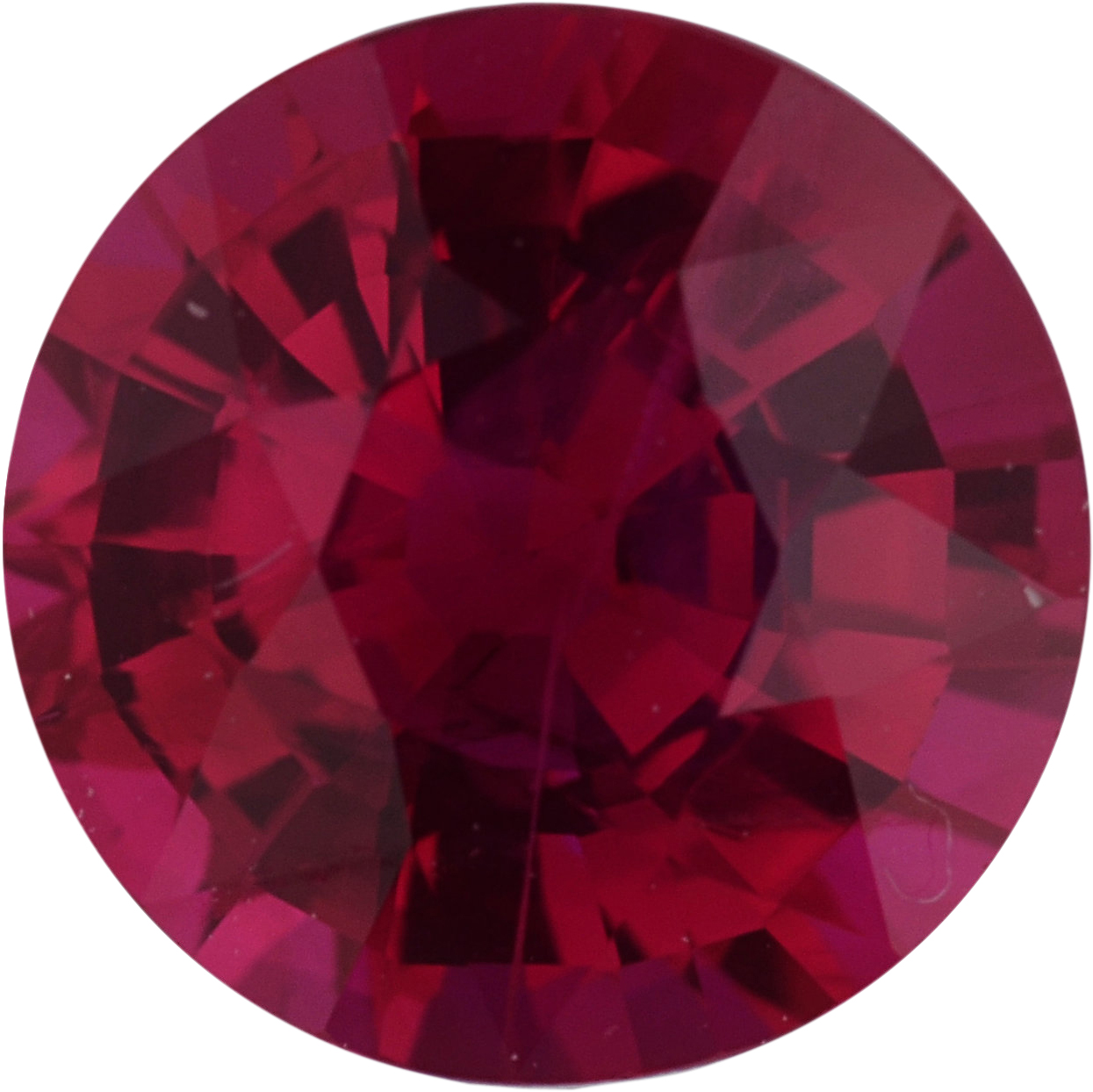 Great Deal on Round Cut Loose Ruby Gem,  Red Color, 6.16 mm, 1.12 carats
