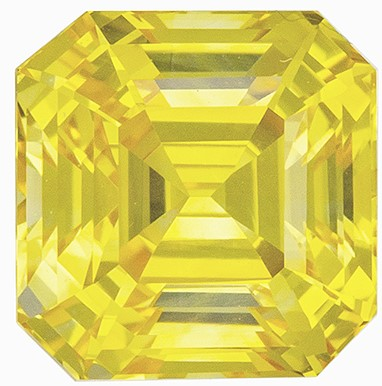 Great Deal on  Yellow Sapphire Gemstone, 2.02 carats, Emerald Shape, 6.3 x 6.2 mm, Amazing Gemstone - Low Price