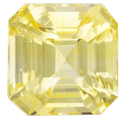 Great Deal on  Yellow Sapphire Gemstone, 4.02 carats, Emerald Shape, 8.47 x 8.33 x 5.91 mm, A Beauty of A Gem GIA No Heat