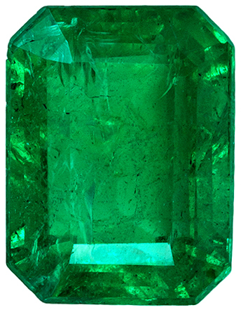 Low Price on A Beauty of an Emerald Gemstone, Medium Rich Green Color in Emerald Cut, 8 x 6.1 mm, 1.67 carats