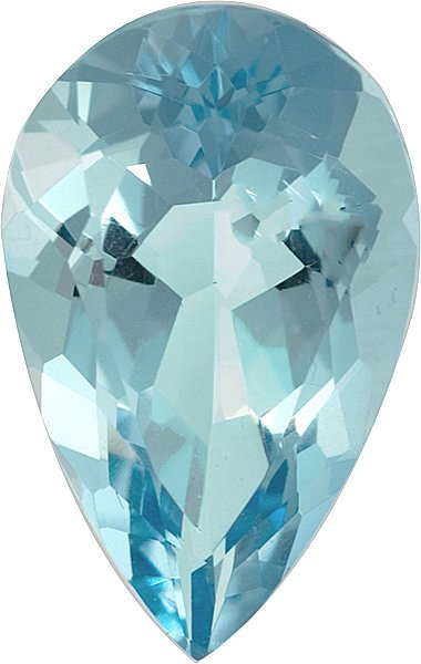 Great Looking No Heat Pear Shape Lively Nice Blue Aquamarine, 18.6 x 11.0mm, 6.97 carats
