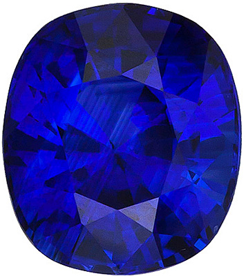 Great Low Price on Natural Blue Sapphire Genuine Gem, Cushion cut, 2.29 carats