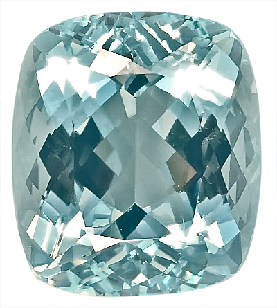 Great Pendant Stone- Stunning Unheated Natural Blue Aquamarine Gemstone, Antique Cushion Cut, 10.47 carats,