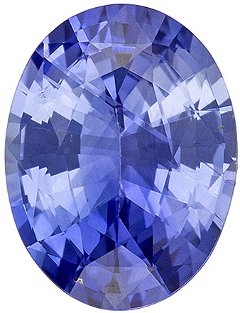 Great Price on Blue Sapphire Oval Cut in Nice Cornflower Blue Color Gem, 7.9 x 5.9 mm, 1.21 carats