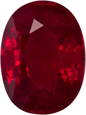 Great Price on Ruby Loose Gem in Oval Cut in Rich Red Color, 6.7 x 5.0 mm, 1.09 carats
