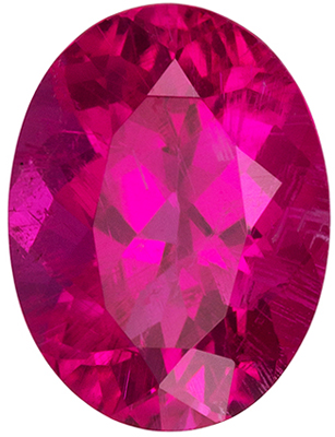 Great Rubellite Tourmaline Genuine Gem in Oval Cut, Vivid Rich Fuchsia, 8 x 6 mm, 1.29 carats