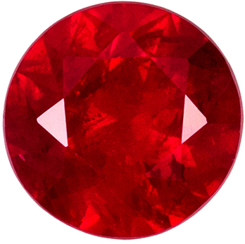 Great Ruby Genuine Gem, Rich Pure Red, Round Cut, 5 mm, 0.56 carats