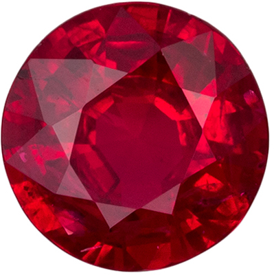 Great Ruby Loose Gem, 4.9 mm, Vivid Rich Red, Round Cut, 0.47 carats