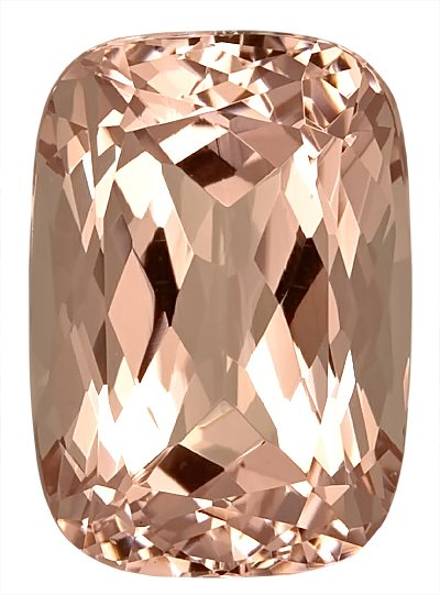 Great Size, Rare Morganite Genuine Gem, Antique Cushion Cut, 16 x 11.3 mm, 11.01 carats