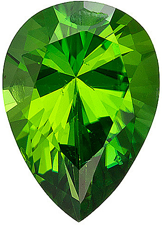 Great Value! Beautiful Unheated Chrome Tourmaline from East Africa, Pear Cut, 1.13 carats