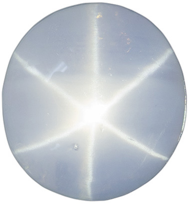 Great Value Blue-Grey Star Sapphire Oval Gemstone, 8.3 x 7.8 mm, 3.41 carats