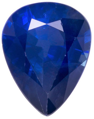Beautiful  Blue Sapphire Gemstone, 1.98 carats, Pear Shape, 8.9 x 6.9 mm, Hard to Find Gem