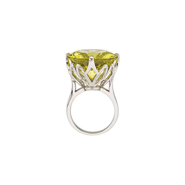 Great Buy in Sterling Silver Green Gold Quartz Ring