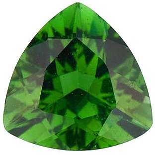 Green Tourmaline Trillion Cut in Grade AAA