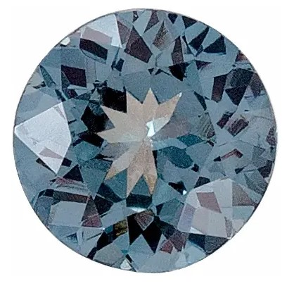 Bluish Grey Spinel Round Cut in Grade AAA