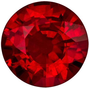 Hard to Find 1.45 carat Ruby Round shaped gemstone, 6.94 x 7.02 x 3.8 mm