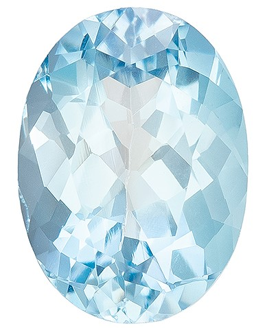 Hard to Find Gem  Blue Aqua Genuine Gemstone, 1.12 carats, Oval Shape, 8 x 5.8 mm