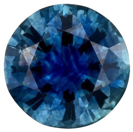 Hard to Find Gem  Blue Green Sapphire Genuine Gemstone, 0.82 carats, Round Shape, 5.9 mm