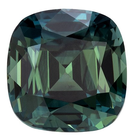 Authentic Blue Green Sapphire Gemstone, Cushion Cut, 2.24 carats, 7.14 x 6.97 x 5.06 mm , GIA Certified - A Low Price