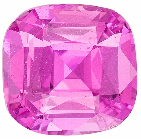 Hard to Find Gem Cushion Cut Gorgeous Pink Sapphire Loose Gemstone, 1.14 carats, 5.87 x 5.78 x 3.78 mm with GIA Certificate, Super Lovely Gem