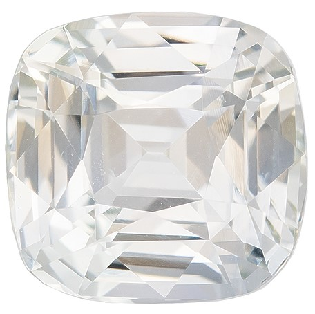 Hard to Find Gem  Cushion Cut Gorgeous White Sapphire Loose Gemstone, 2.01 carats, 6.8 x 6.7 mm , Very Bright Gem