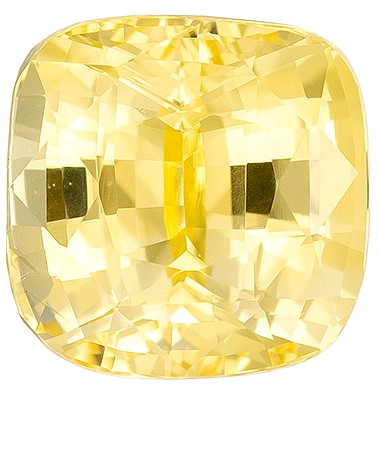 Hard to Find Gem  Cushion Cut Natural Yellow Sapphire Loose Gemstone, 1.19 carats, 5.6 x 5.5 mm , Top Gem Material