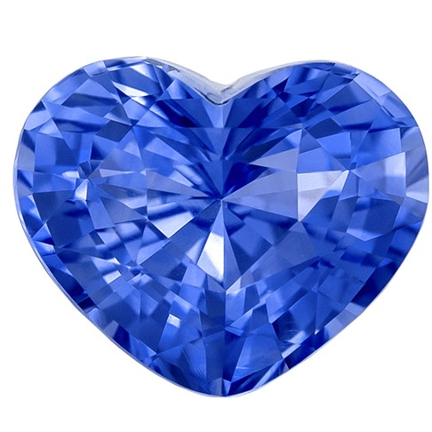 Hard to Find Gem  Heart Cut Loose Blue Sapphire Loose Gemstone, 1.64 carats, 7.5 x 6.1 mm , Very Bright Gem
