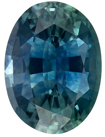Hard to Find Gem Oval Cut Gorgeous Blue Green Sapphire Gemstone, 1.05 carats, 7 x 5.1 mm , A Must Have Gem