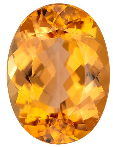 Hard to Find Gem  Oval Cut Gorgeous Imperial Topaz Gemstone, 2.97 carats, 10.5 x 7.7 mm , Huge Presence