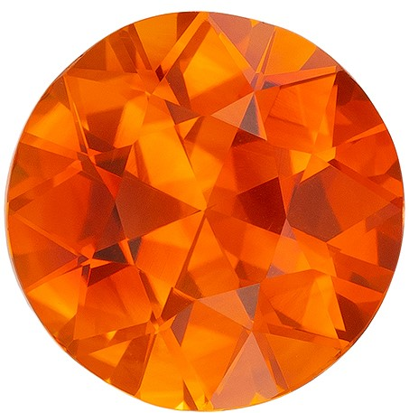 Hard to Find Gem  Round Cut Faceted Orange Sapphire Gemstone, 2.99 carats, 8.92 x 8.82 x 5.54 mm with GIA Certificate, Great Ring Gemstone