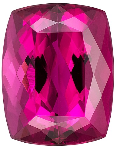 Truly Stunning  Rubellite Tourmaline Genuine Gemstone, 4.45 carats, Cushion Shape, 10.8 x 8.5 mm