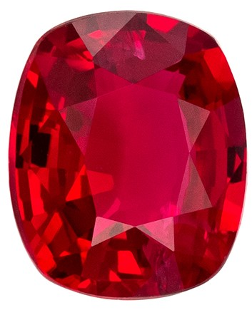 Super Great Buy on  Cushion Cut Beautiful Ruby Gemstone, 0.75 carats, 5.9 x 4.9 mm , Top Gem Material