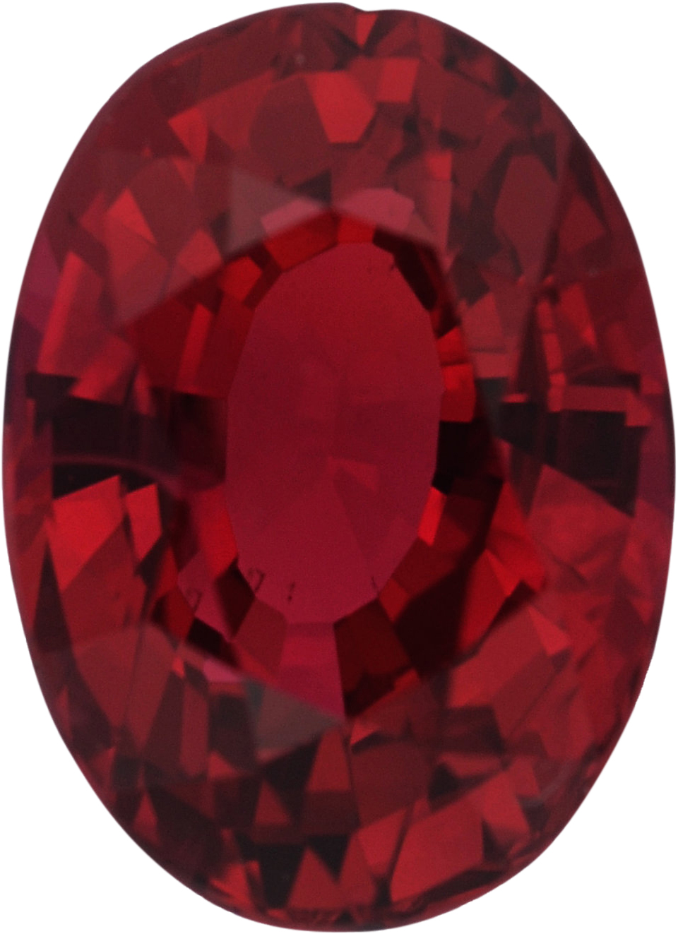 Hard to Find Oval Cut Loose Ruby Gem, Red Color, 6.83 x 4.97 mm, 1.12 carats