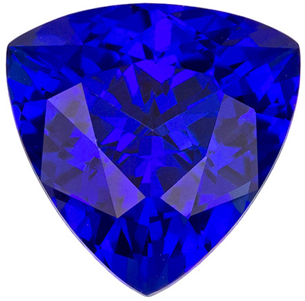 Hard to Find Tanzanite in Deep Rich Blue Purple Color Fiery Trillion Cut in 9.0 mm, 3.04 carats