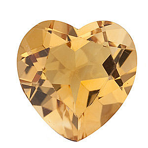Heart Cut Genuine Citrine in Grade A