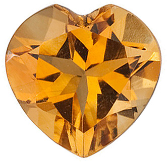 Heart Cut Genuine Citrine in Grade AA